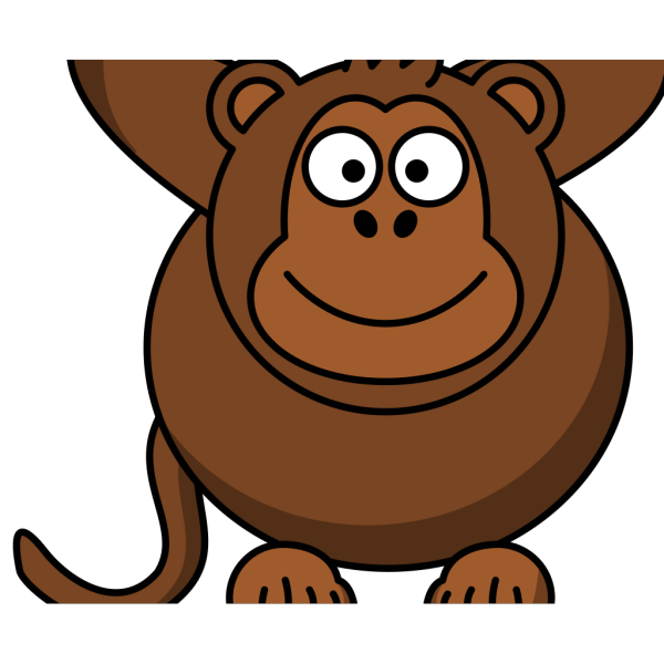 Monkey With Arms Up PNG Clip art