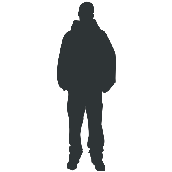 Walking Person Silhouette PNG Clip art