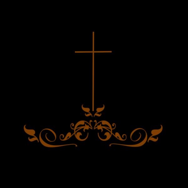 Swirl Brown Cross PNG Clip art