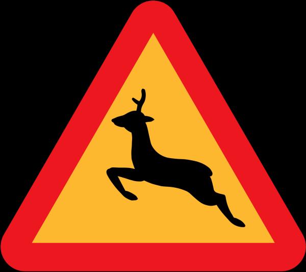 Brown Leaping Deer PNG Clip art
