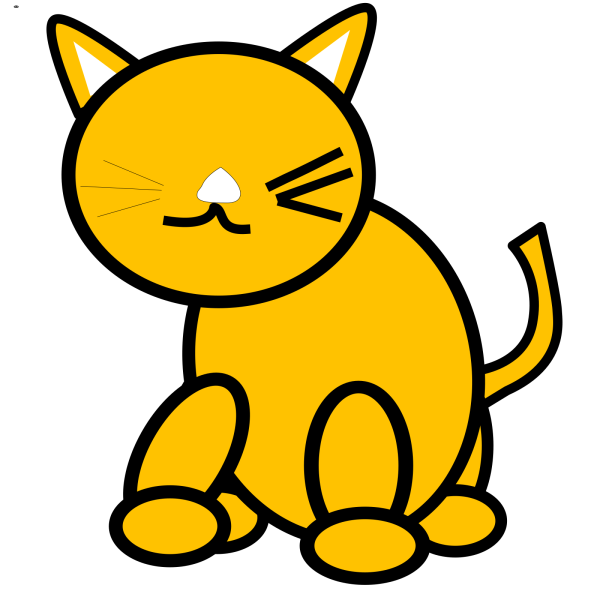 Brown Cat Looking To The Side PNG Clip art