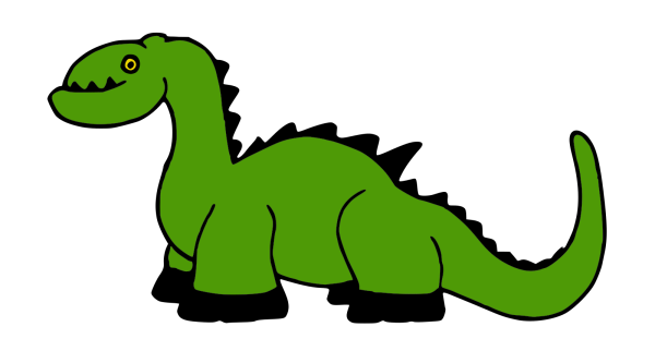 Long Necked Dinosaur Silhouette PNG icons