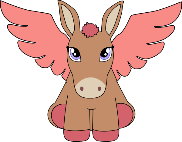 Brown Donkey PNG Clip art