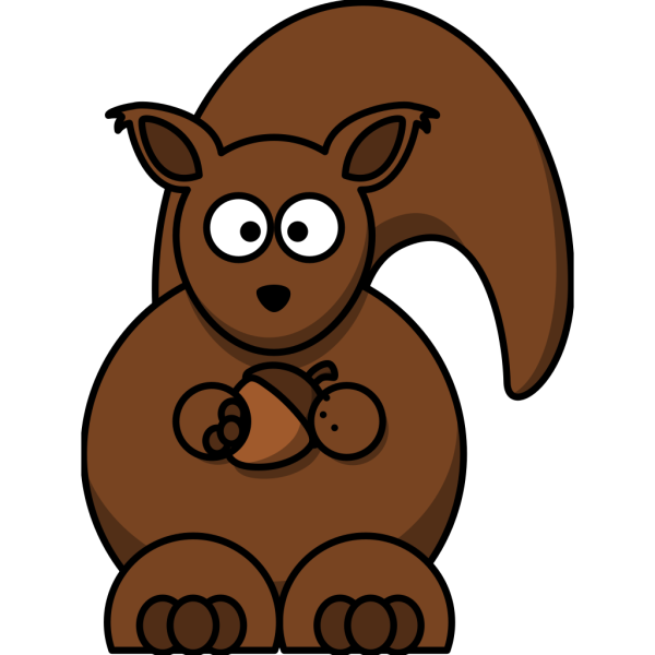 Carton Squirrel -- Thicker Lines PNG Clip art