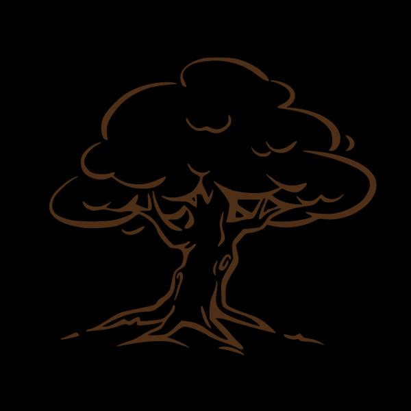 Brown Oak Tree PNG Clip art