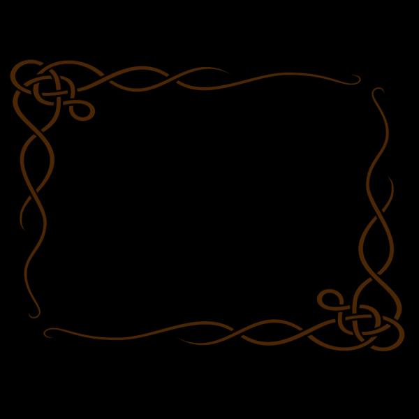 Leafy Frame Brown PNG Clip art