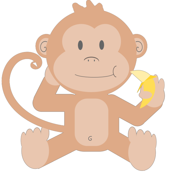 Dan Brown Monkey Large PNG Clip art
