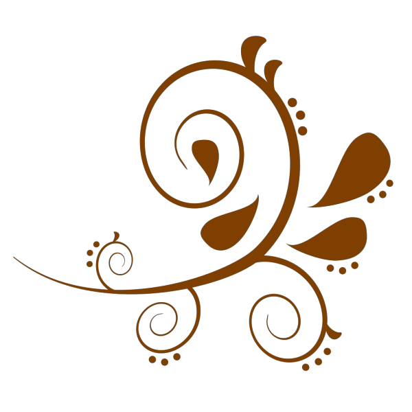 Paisely Swirl Brown PNG Clip art