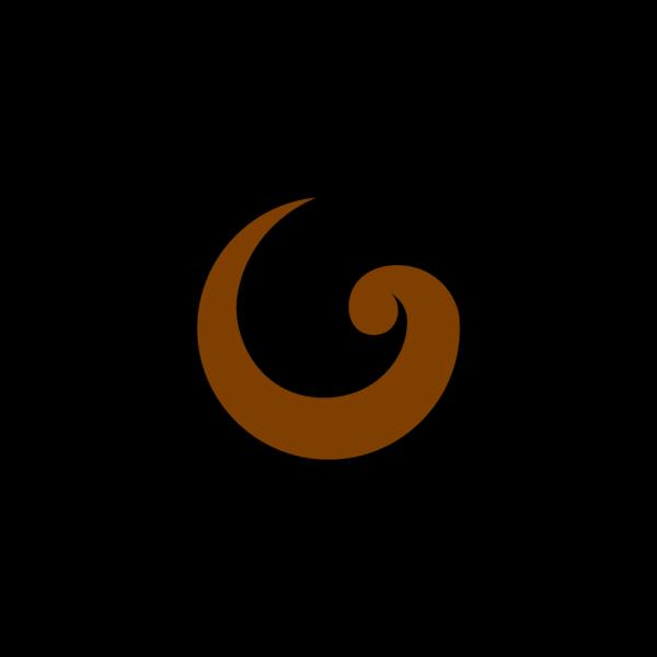 Simple Swirl Brown PNG Clip art