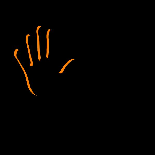 Dark Brown Handprint PNG Clip art