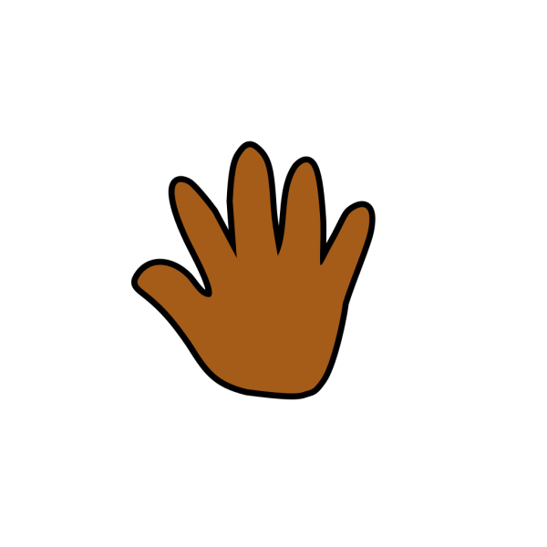 Brown Hand Print PNG Clip art