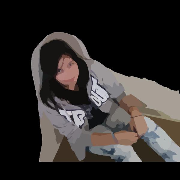 Happy Girl Brown PNG Clip art