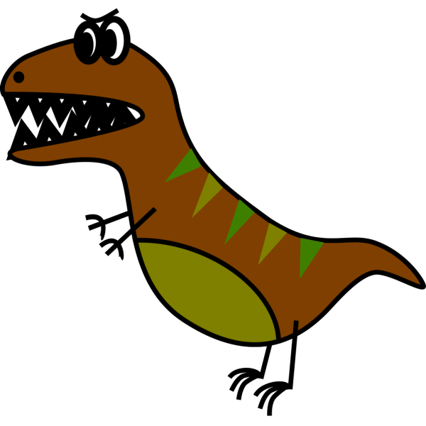 Dino: Very Simple Bd Style T-rex PNG Clip art