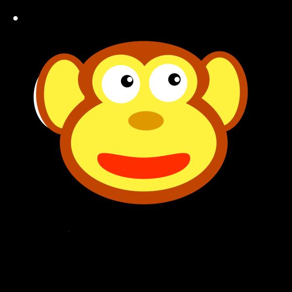 Circle Monkey Head PNG Clip art