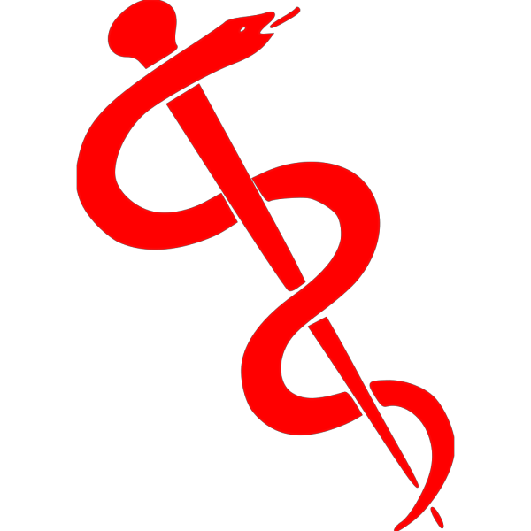 Rod Of Asclepius-dark Brown Clip Art PNG Clip art