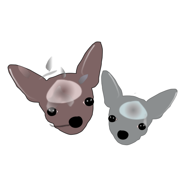 Two Chihuahuas PNG Clip art