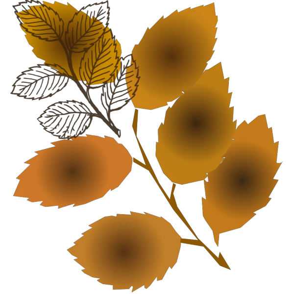 Fall Leaves Branch PNG Clip art