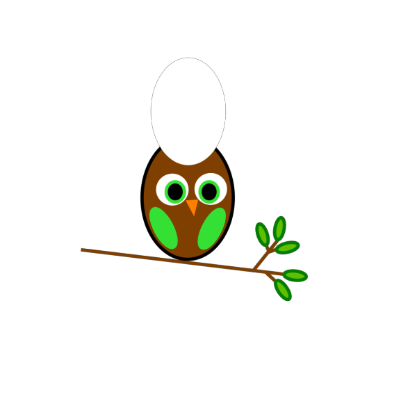 Brown Green Owl PNG Clip art