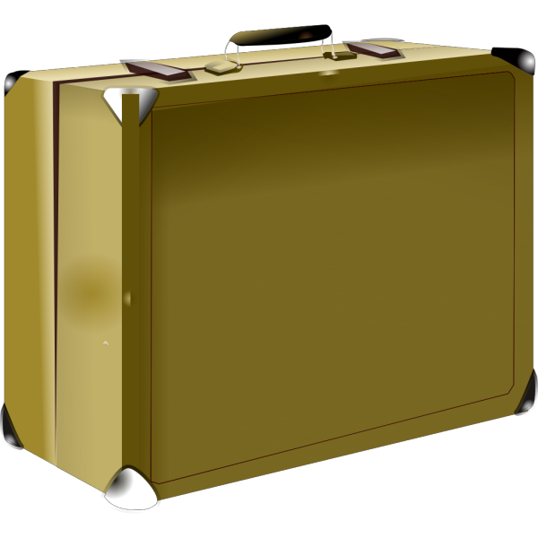 Chocolate Brown Suitcase PNG Clip art