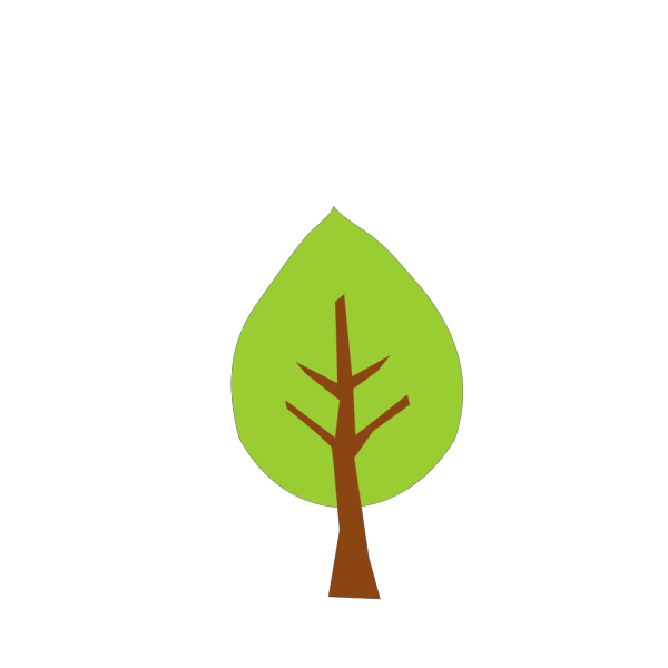 Green Tree With Brown Trunk PNG Clip art