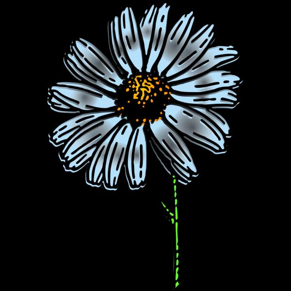 Gray Brown Daisy PNG Clip art