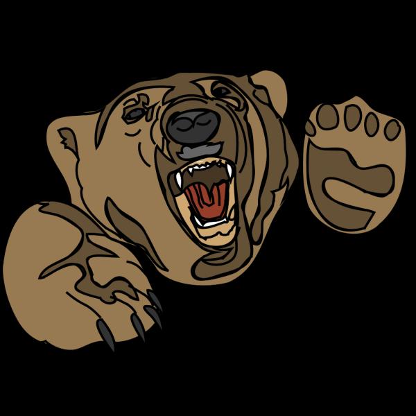 Attacking Bear PNG Clip art
