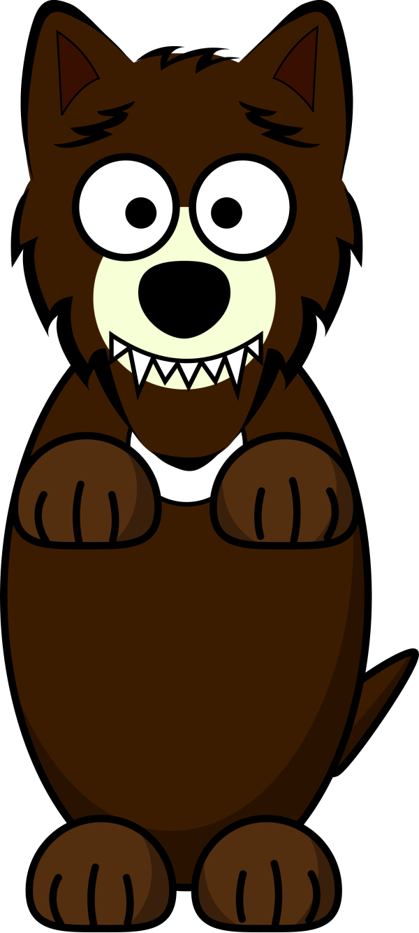 Hunting Brown Wolf PNG Clip art