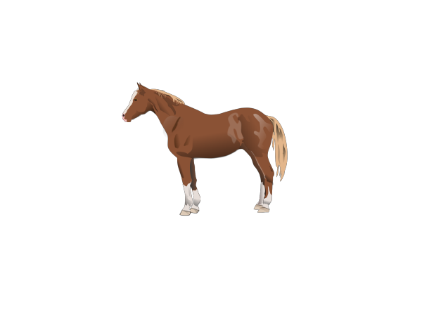 Trotting Brown Horse PNG Clip art