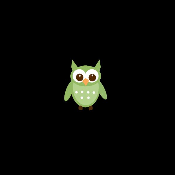 Olive Green Owl PNG Clip art