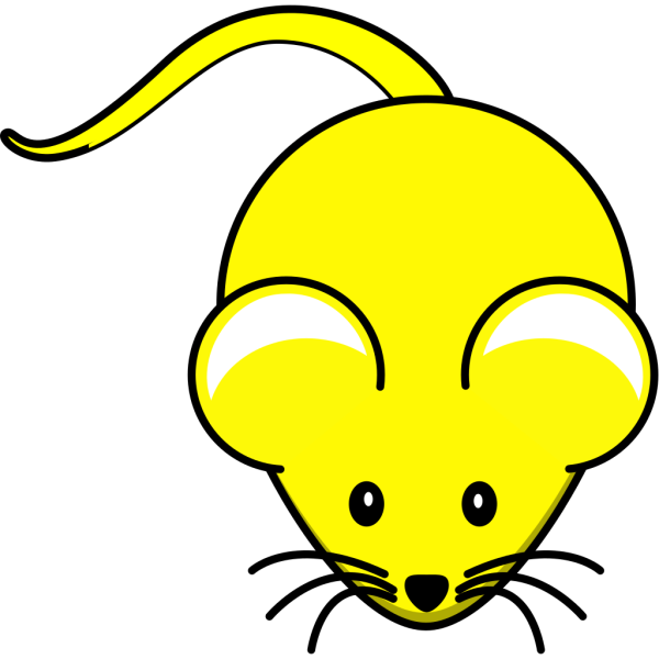 Yellow Mouse W/ Brown Ears PNG Clip art