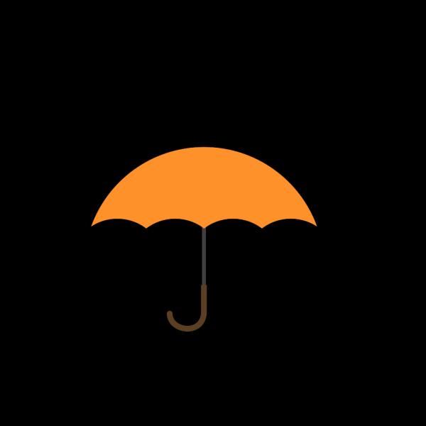 Orange Umbrella PNG Clip art