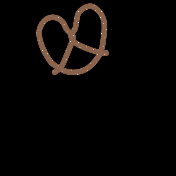 Double Pretzel Brown PNG Clip art