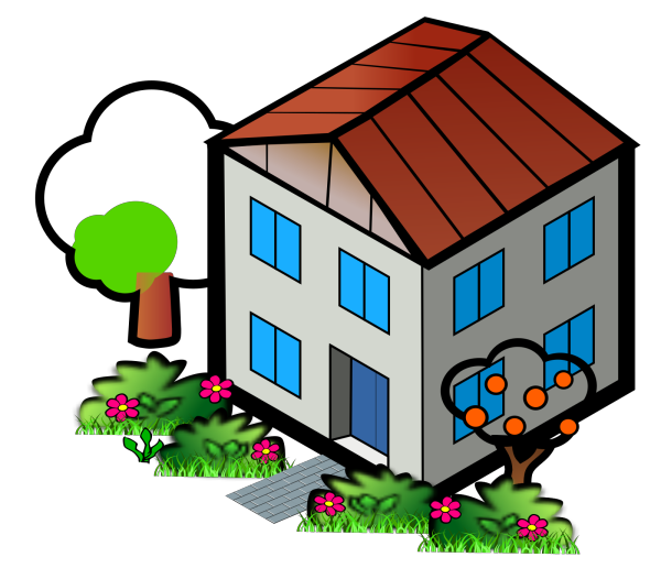 House With Balcony PNG Clip art