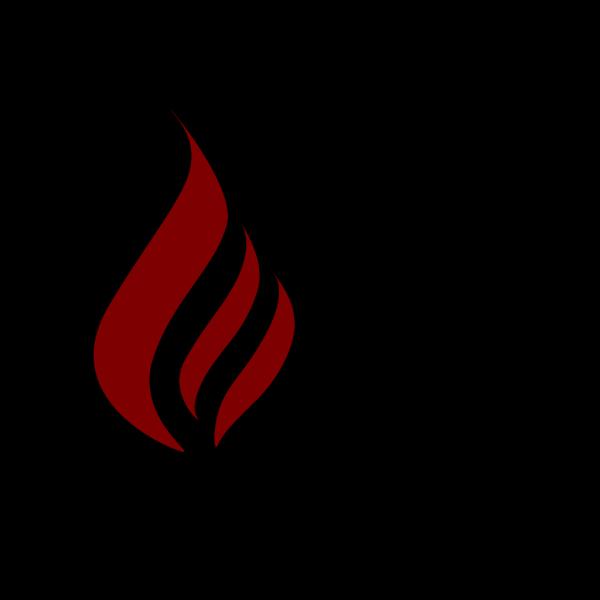 Maron  Flame Logo PNG Clip art