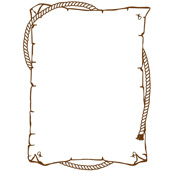 Western Rope Border PNG Clip art