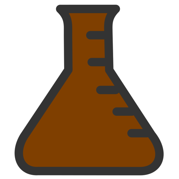Lab Bottle Brown PNG Clip art