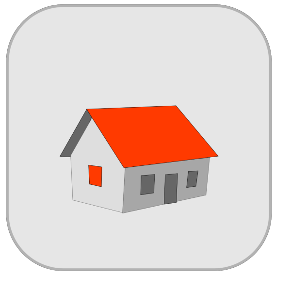Brown House Icon PNG Clip art
