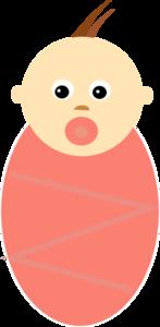 Baby Girl Brown Hair PNG Clip art