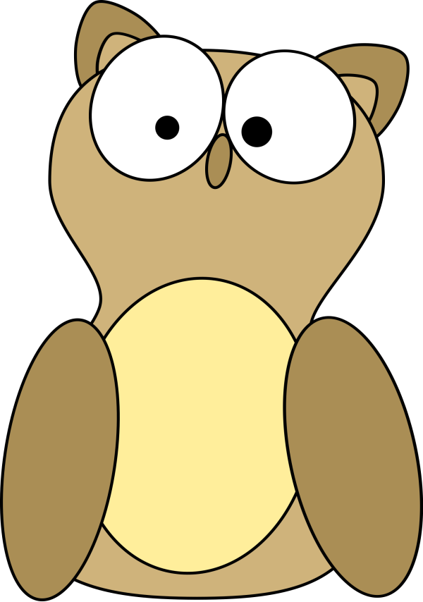 Brown Cartoon Owl PNG Clip art