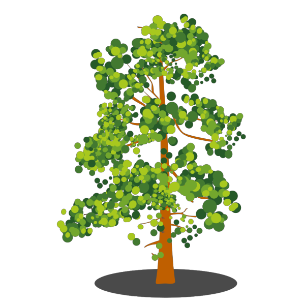Green Brown Abstract Tree PNG Clip art
