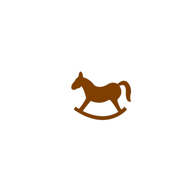 Brown Rocking Horse PNG icons