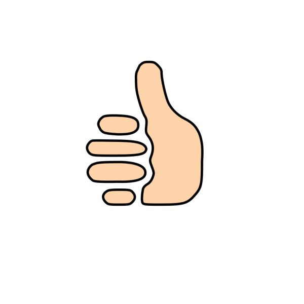 Thumbs Up Symbol PNG clipart