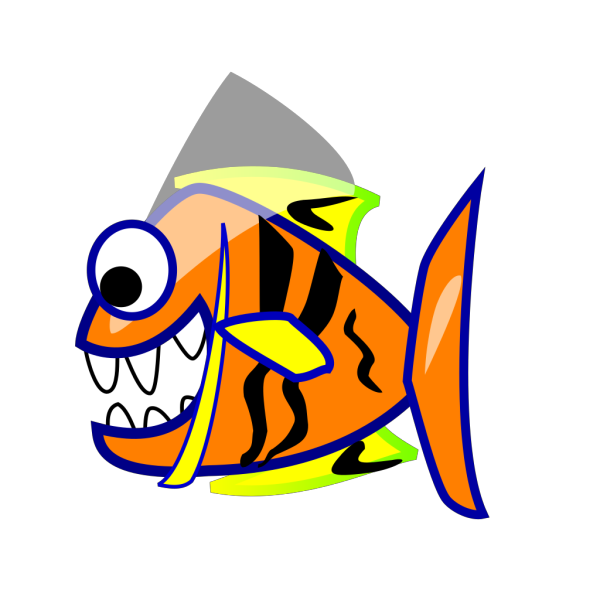 Orange Fish PNG image