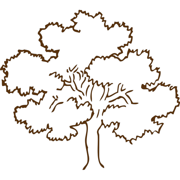 Light Brown Tree PNG Clip art