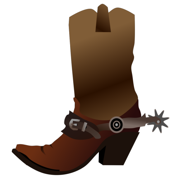 Adult Brown Cowboy Boots Reverse PNG Clip art