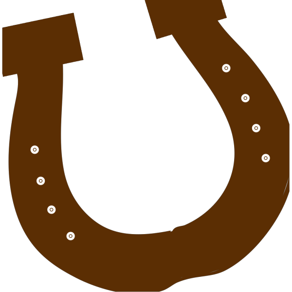 Brown Rodeo Horseshoe PNG Clip art