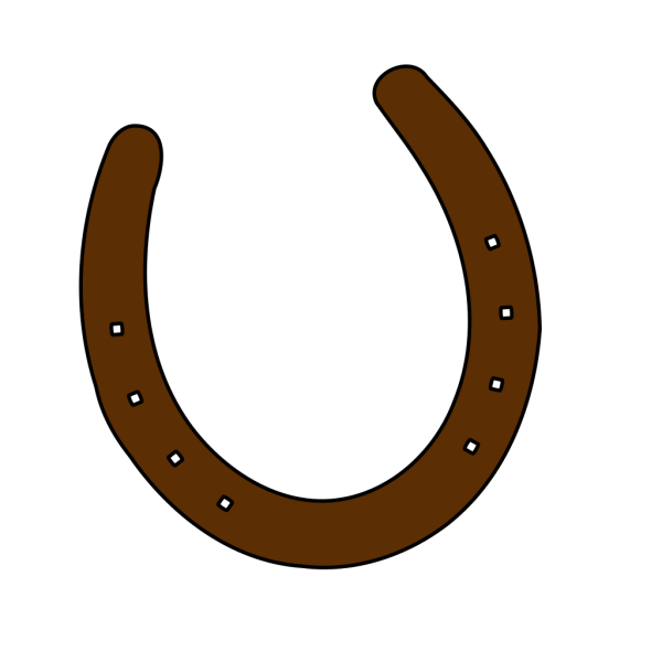 Cowboy Brown Horseshoe PNG Clip art