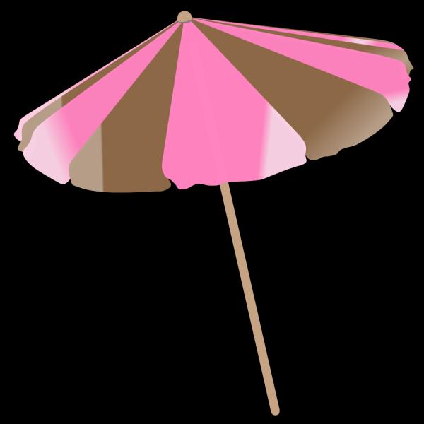 Pink And Brown Umbrella PNG Clip art
