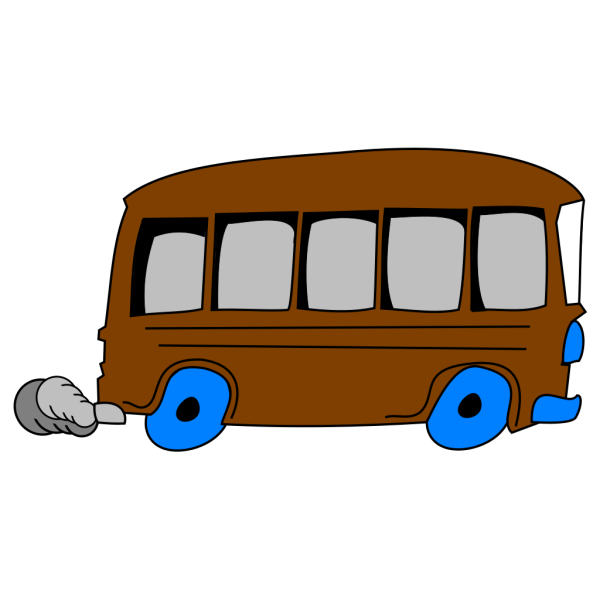 Brown School Bus PNG Clip art