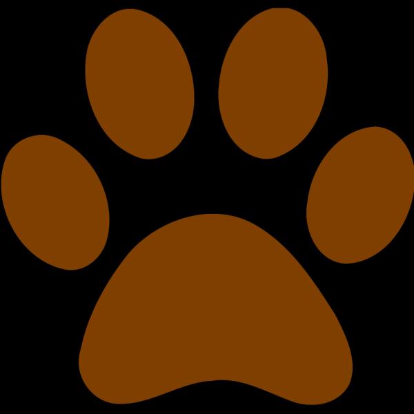 Brown Paw Print PNG Clip art